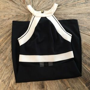 Black and white fitted dress size XS